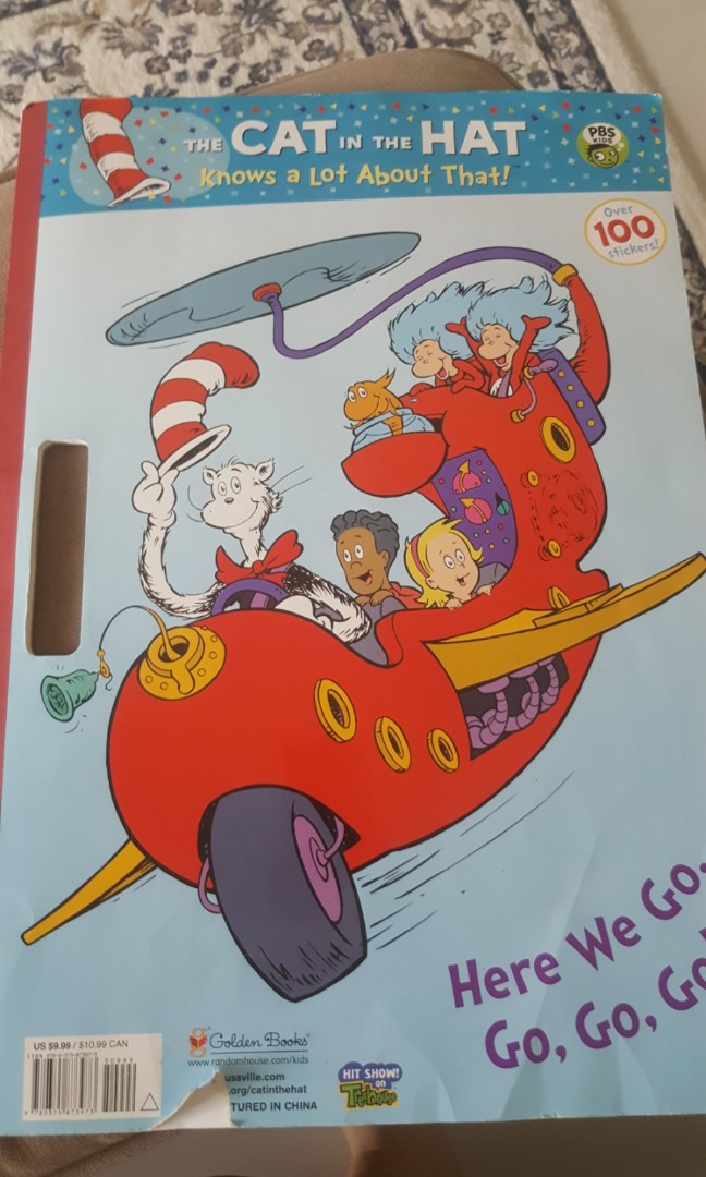 Giant coloring book Cat in the Hat, Books & Stationery, Children\'s ...