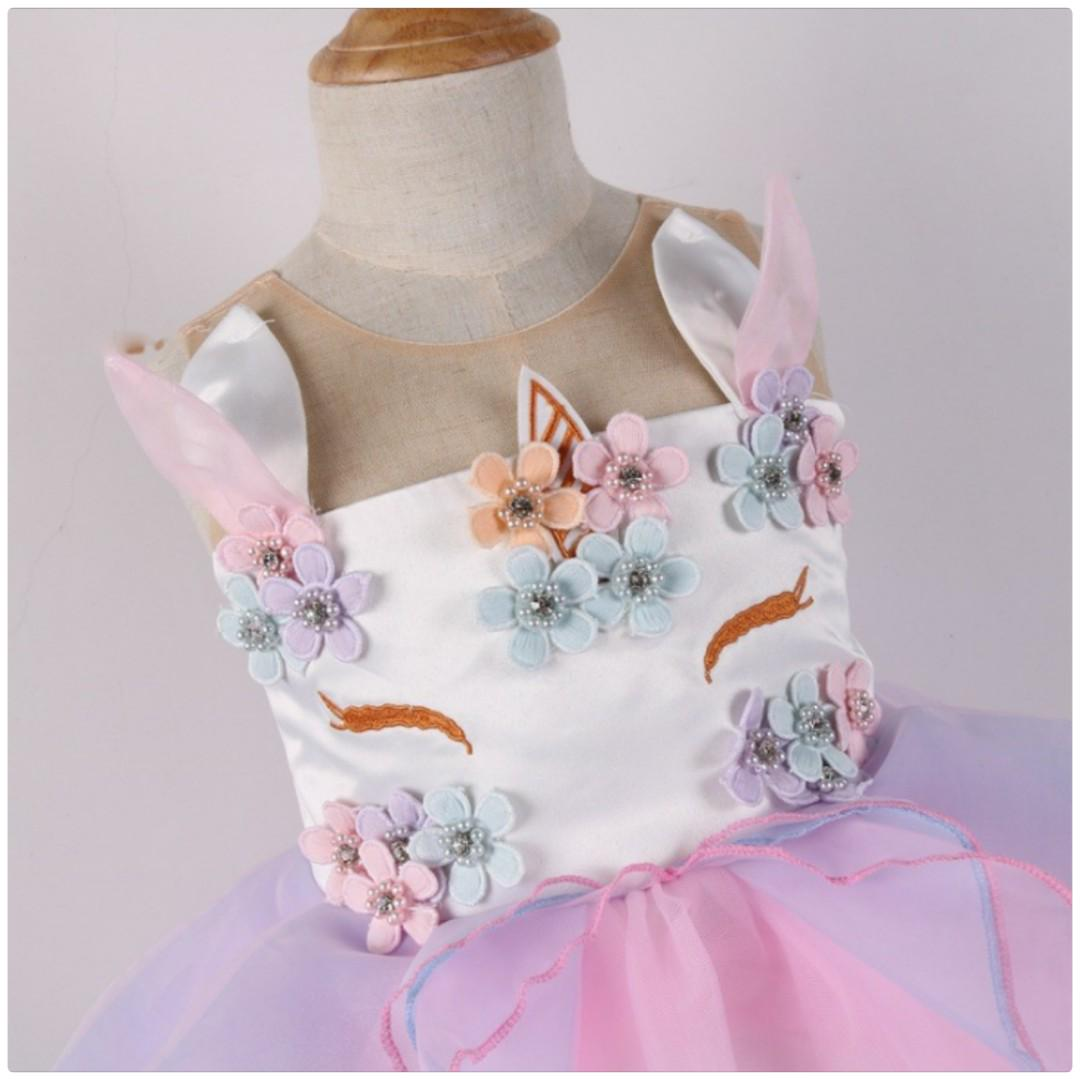 Girl Unicorn Party Dress [ Pre Order ] -- Pink