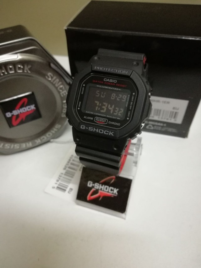 Gshock Casio Dw 5600 Hr 1 Men S Fashion Watches On Carousell