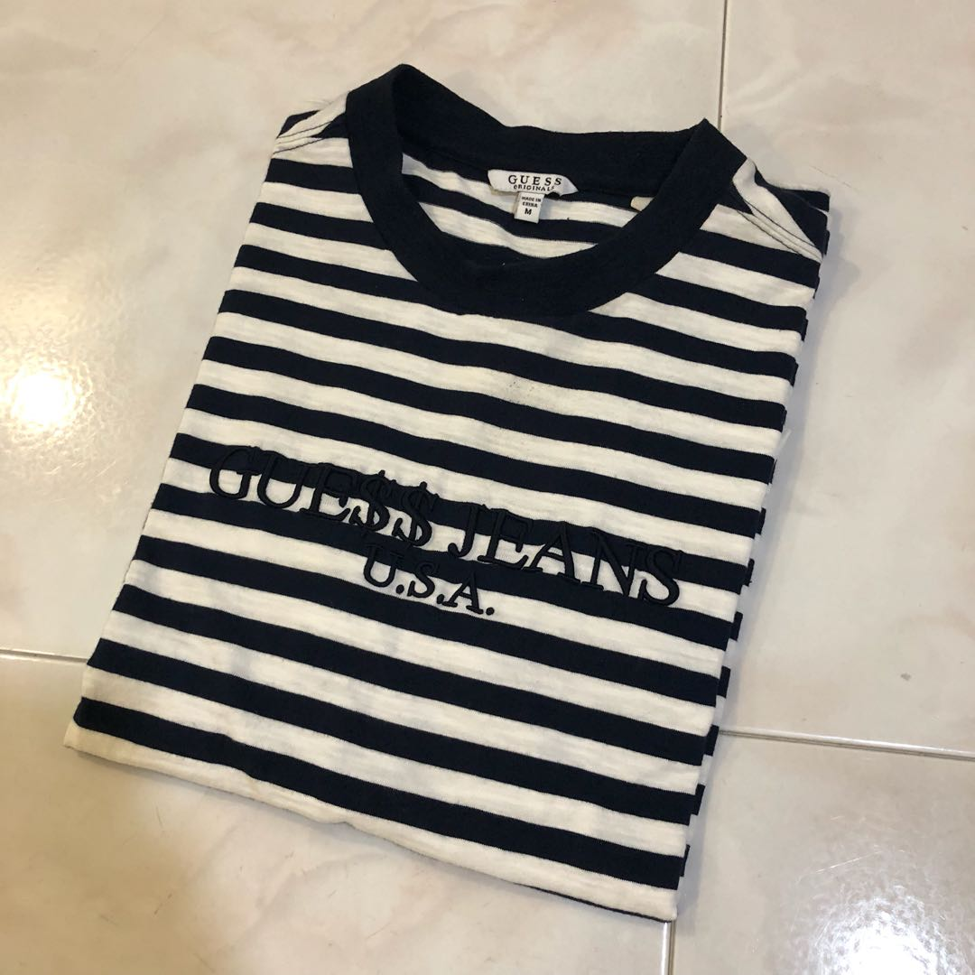 a04636329a84 Guess x ASAP rocky tee, Men's Fashion, Clothes, Tops on Carousell