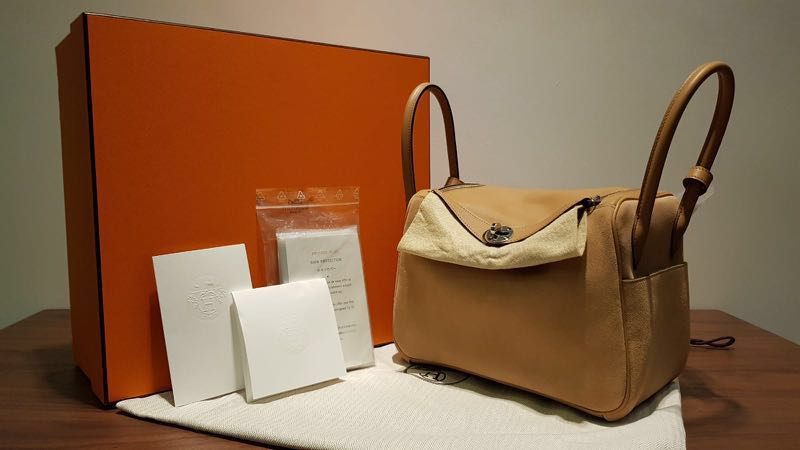 b7ecce6118fa Hermes Lindy 26 Grizzly  Swift- Nude Biscuit