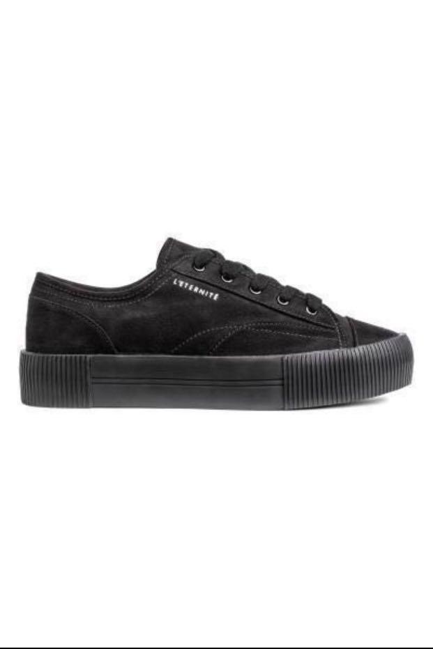 H\u0026M black sneakers, Women's Fashion