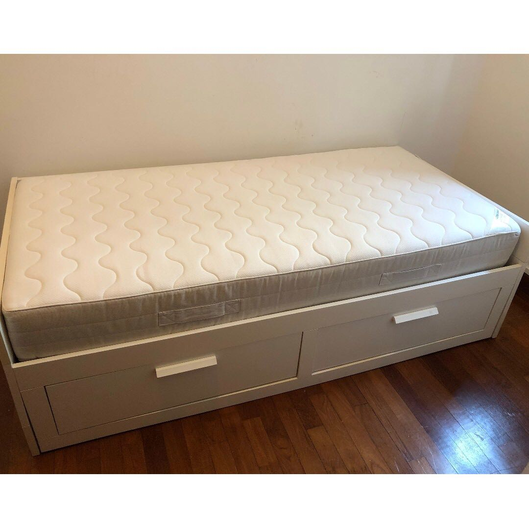 Ikea Brimnes Day Bed Inner Spring Mattress Furniture Beds Mattresses On Carousell