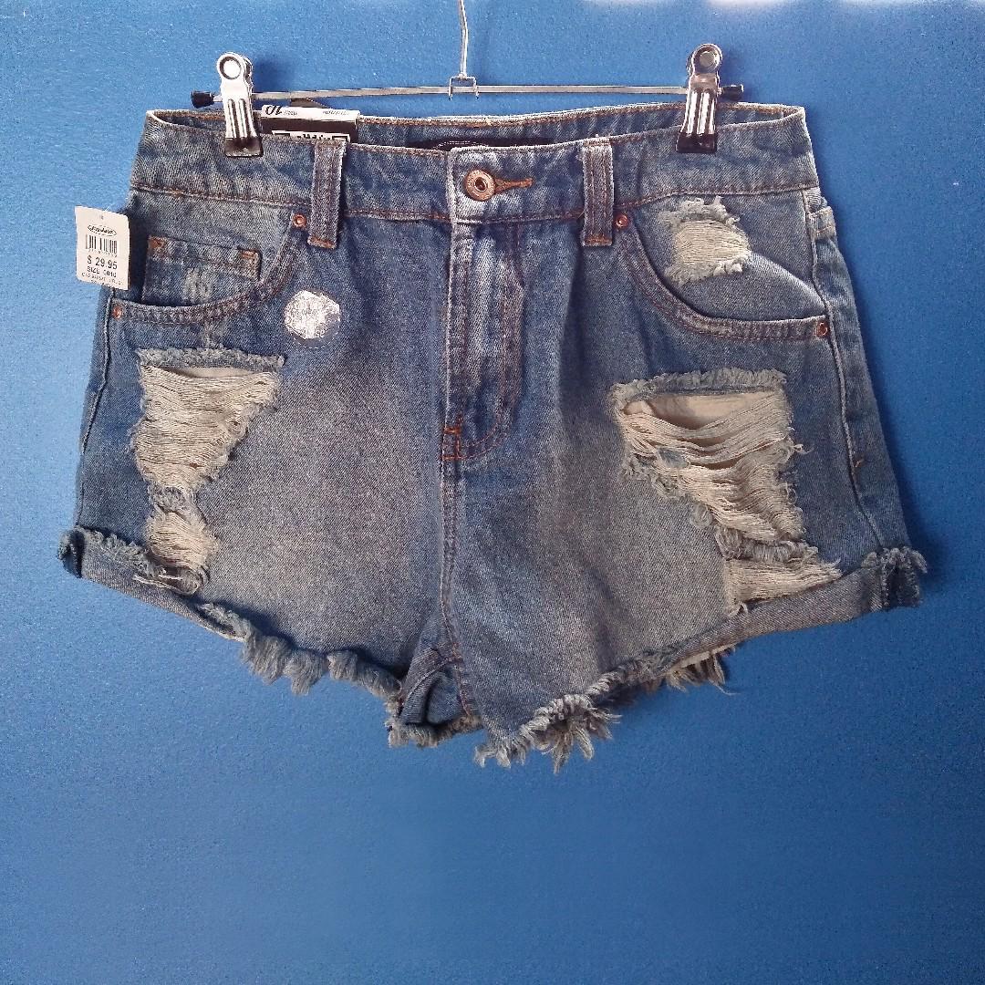 JayJays distressed 'vintage' high waisted denim shorts
