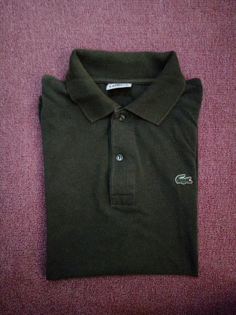 On Army Lacoste Polo Green Carousell Nn0y8vmwO