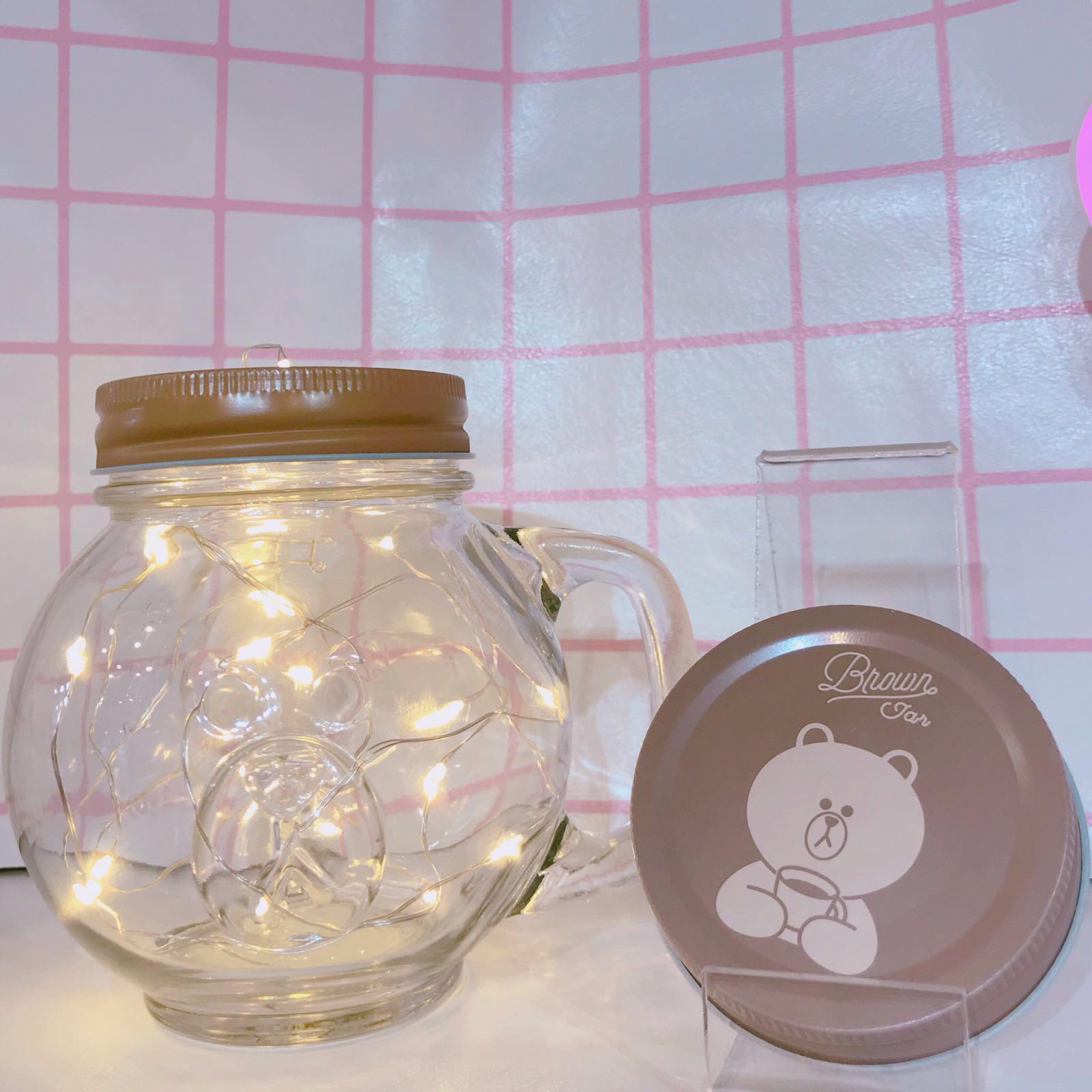 Line熊大玻璃杯 Glass Jar
