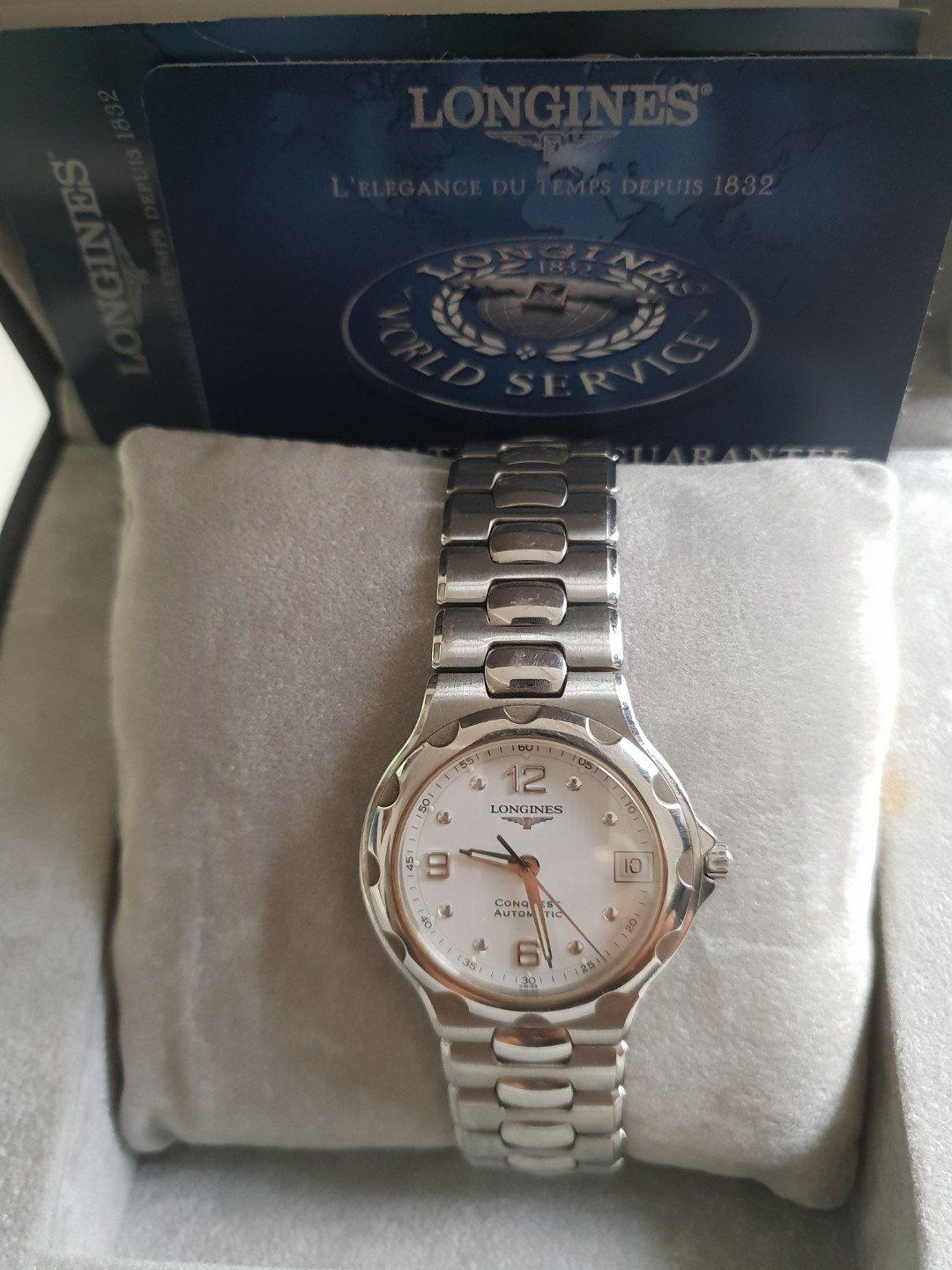 a342c435024 Longines Conquest Collection Automatic Watch, Luxury, Watches on ...
