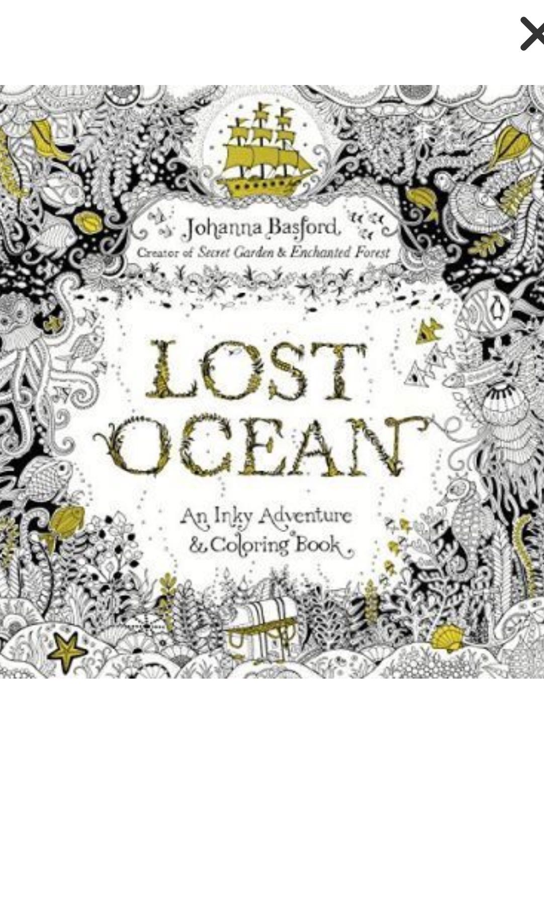 Lost Ocean colouring book, Design & Craft, Art & Prints on Carousell