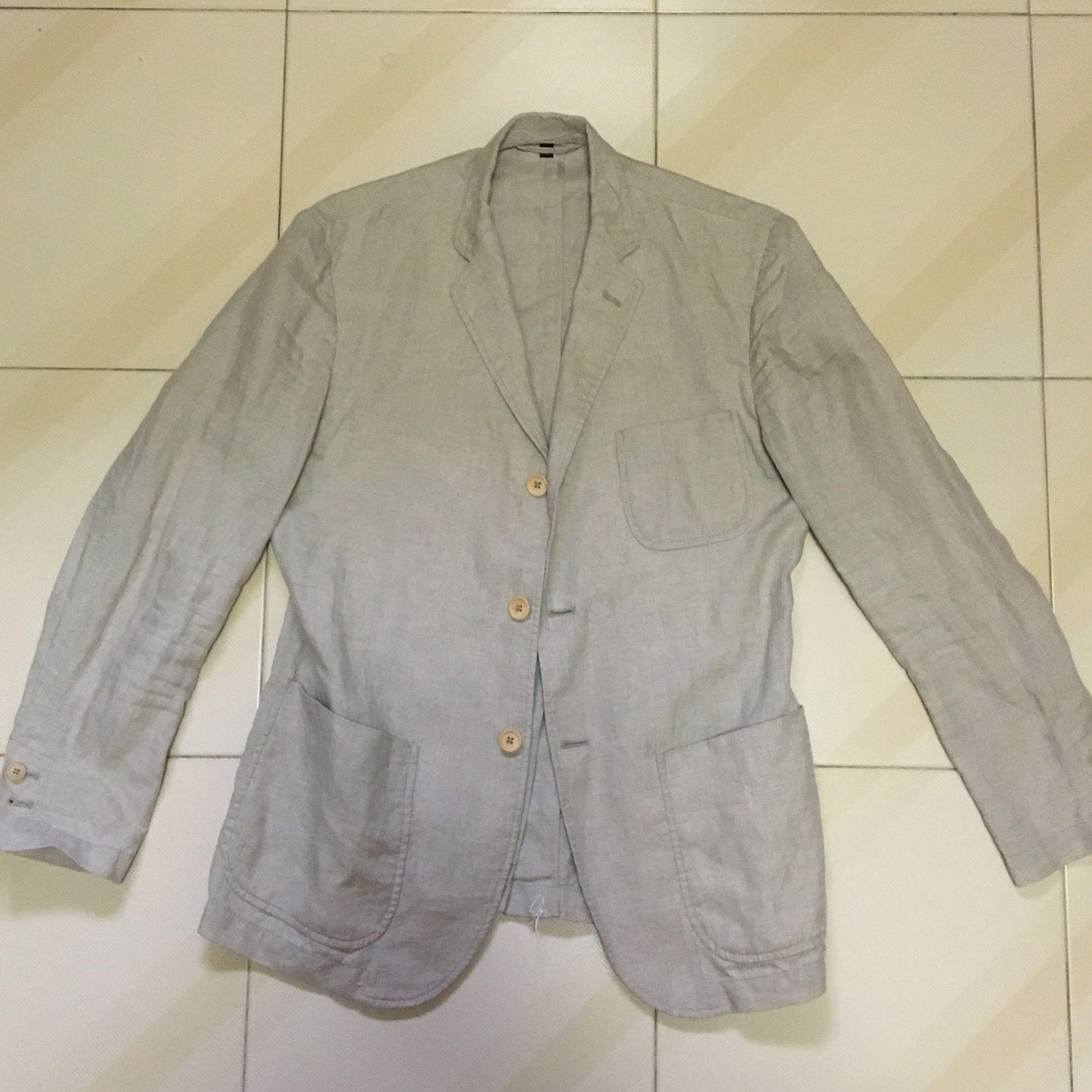 Muji- Linen Lightweight Casual Khaki Color Jacket 77f4a9e82ca69