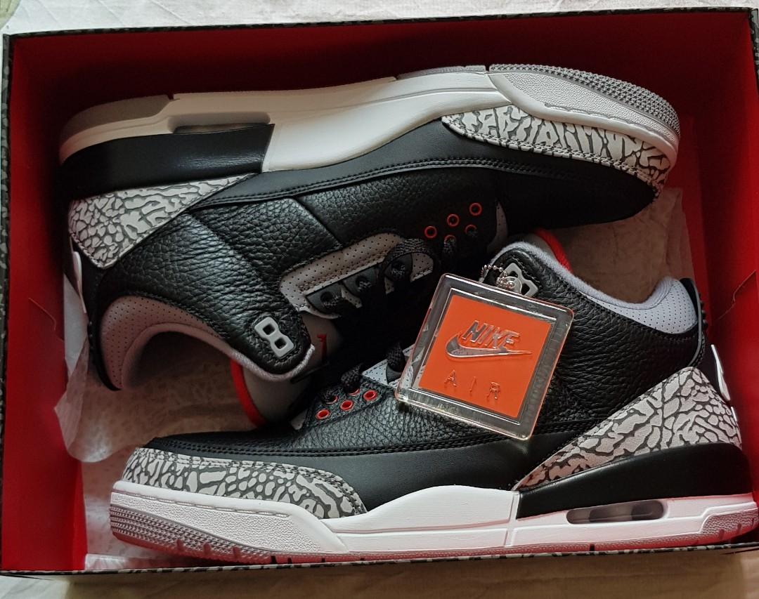 16f281cf0646 Nike Air Jordan 3 Black cement UK9 US 10