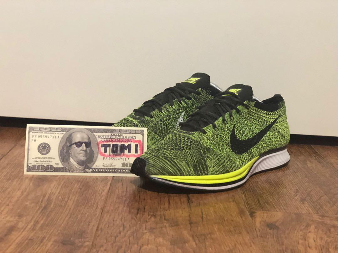 Nike Flyknit Racer Volt/Sequoia