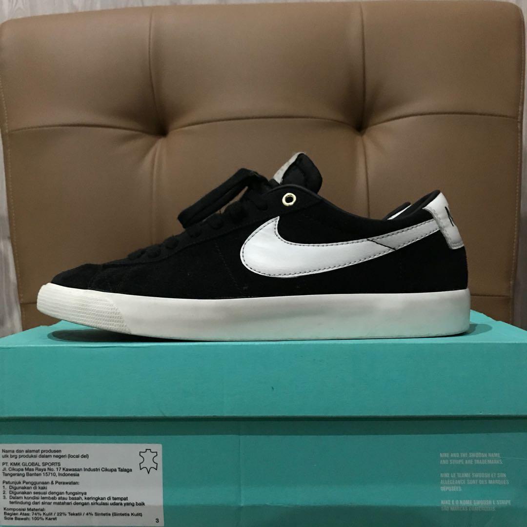 wholesale dealer 48f88 b4fa9 Nike sb blazer low gt qs x grant taylor black sail sz 42.5 u