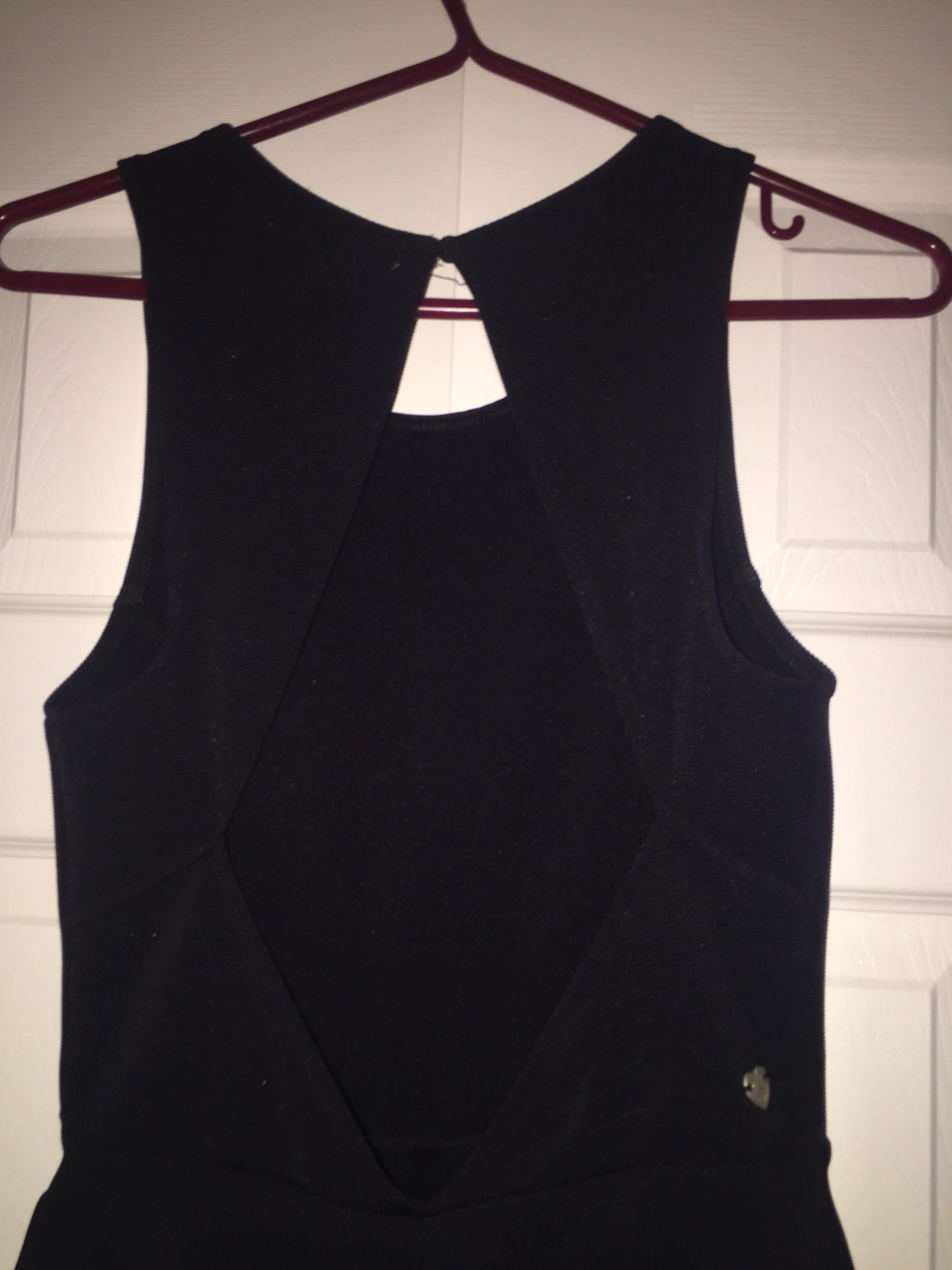 open back skater dress: Kendall & Kylie Collection