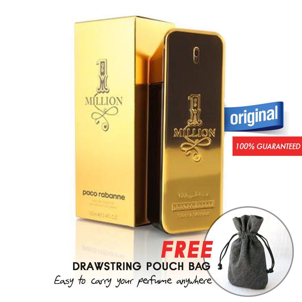 eafdb4c24f4ae Paco Rabanne 1 Million EDT 100ml Perfume (Authentic) + Free Pouch ...