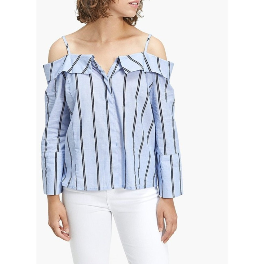 86dbf45513764 PO) Floyd Striped Offshoulder Top