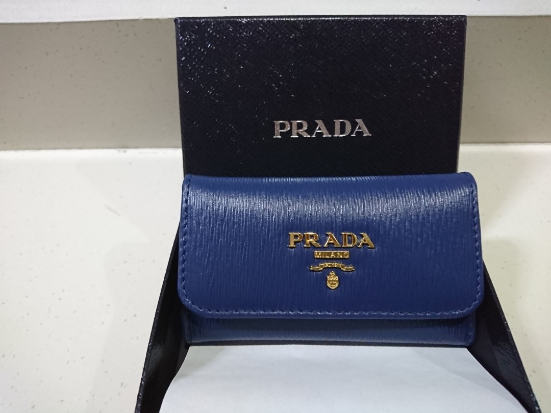 b043b62565ff Prada metal key pouch, Luxury, Bags & Wallets, Wallets on Carousell