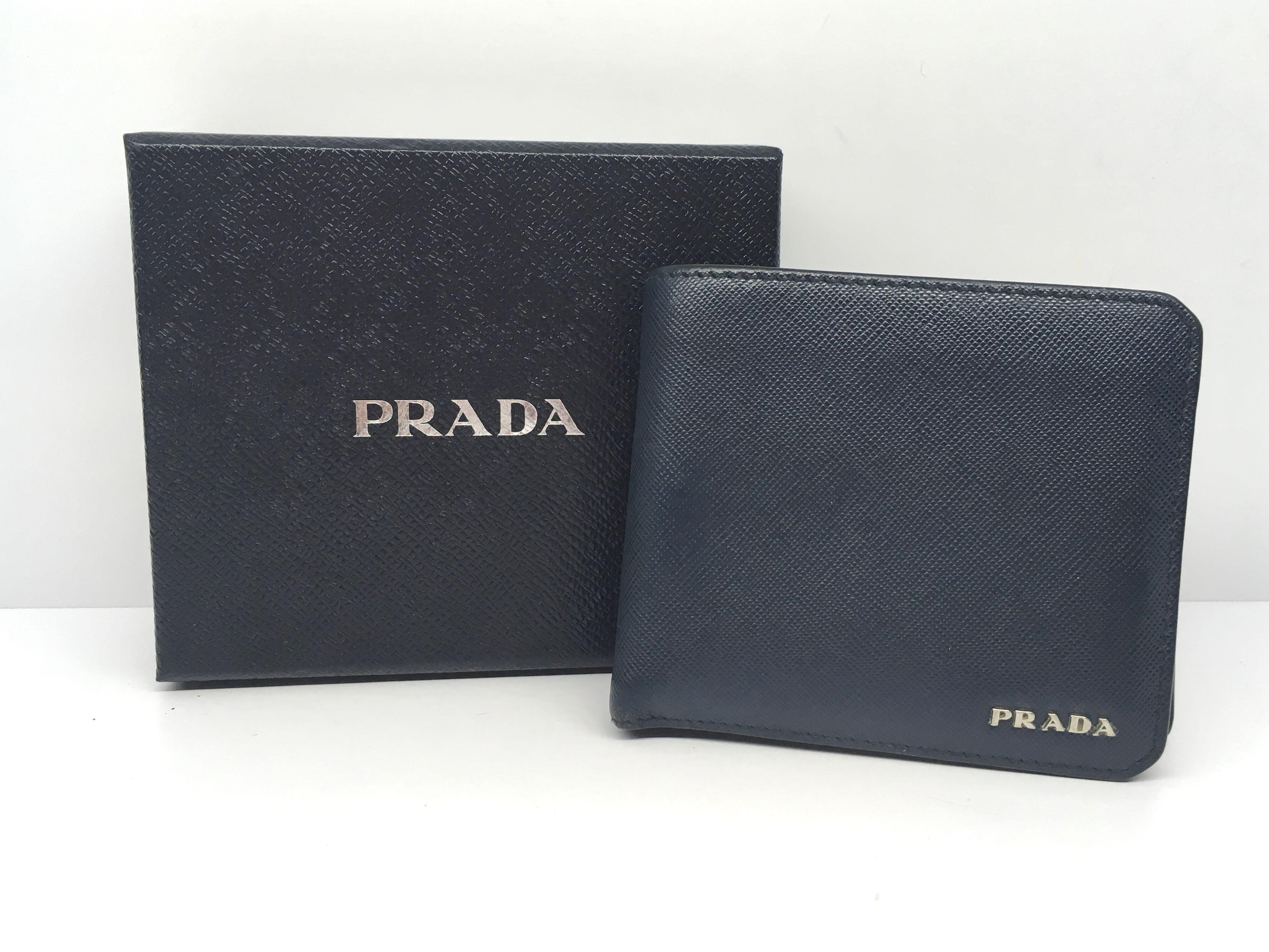 8d8377ef4aff15 Prada Navy Blue Wallet, Luxury, Bags & Wallets, Wallets on Carousell