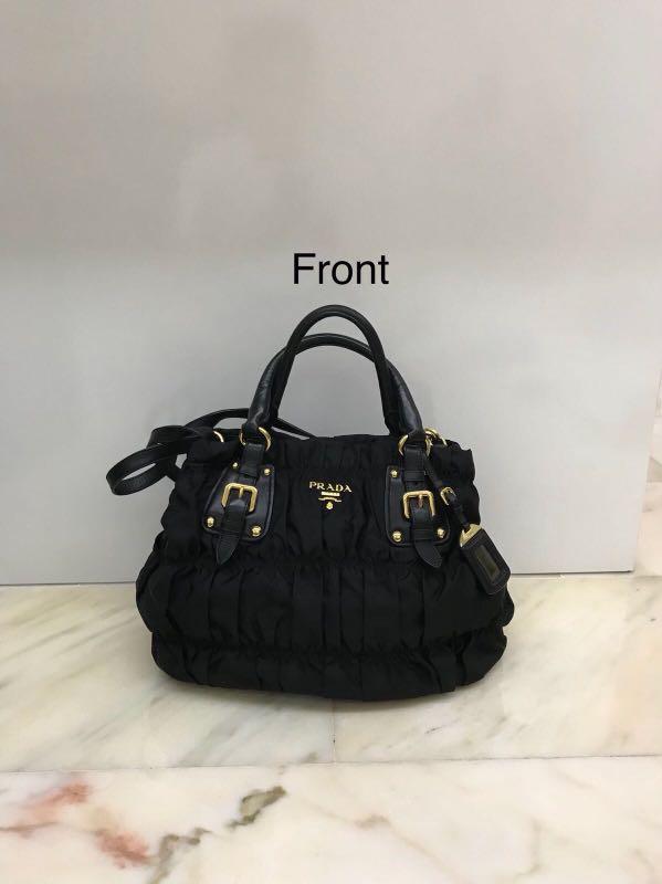 1c1273d37e4b Prada Tessuto Gaufre, Luxury, Bags & Wallets, Handbags on Carousell