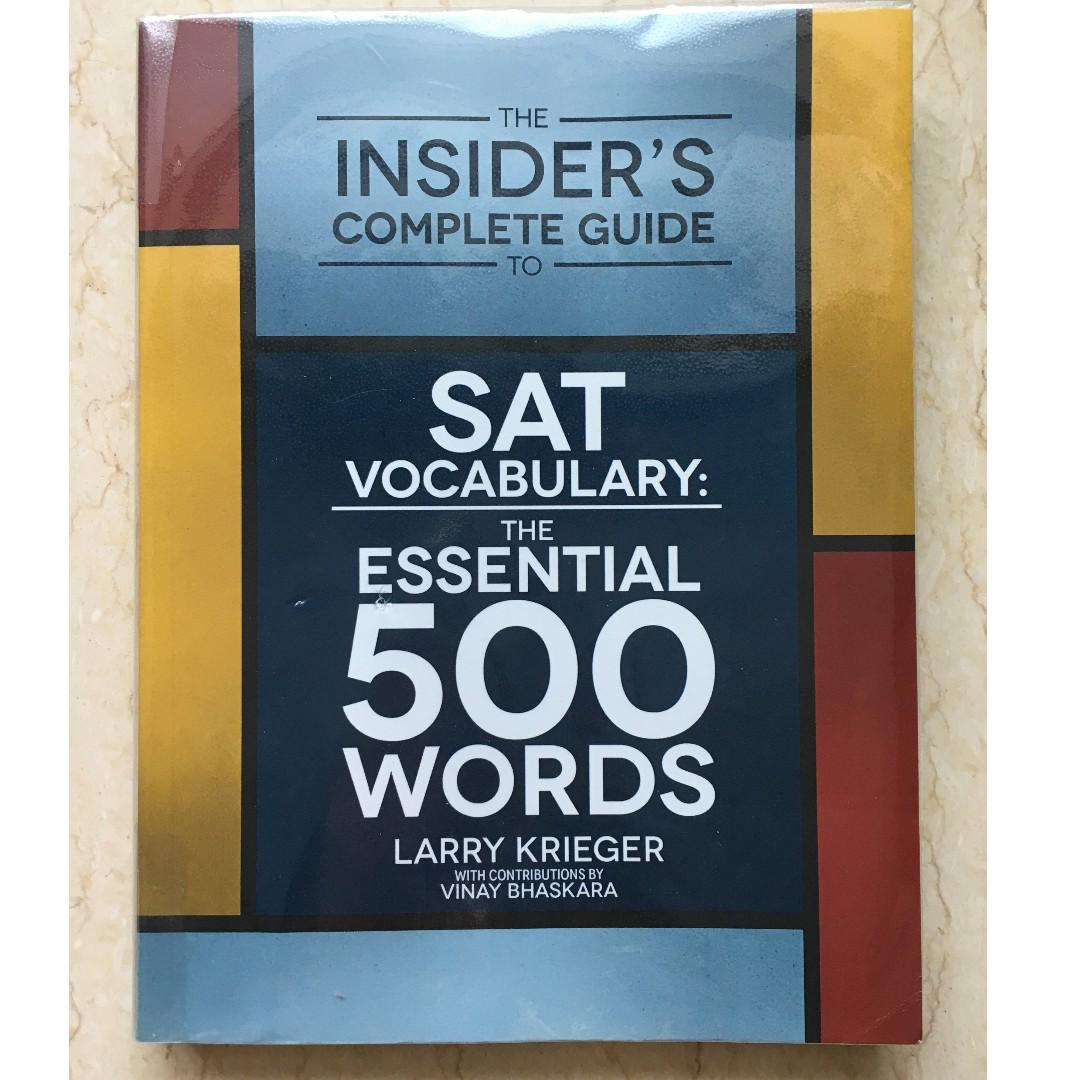 SAT Vocabulary: The Essential 500 Words