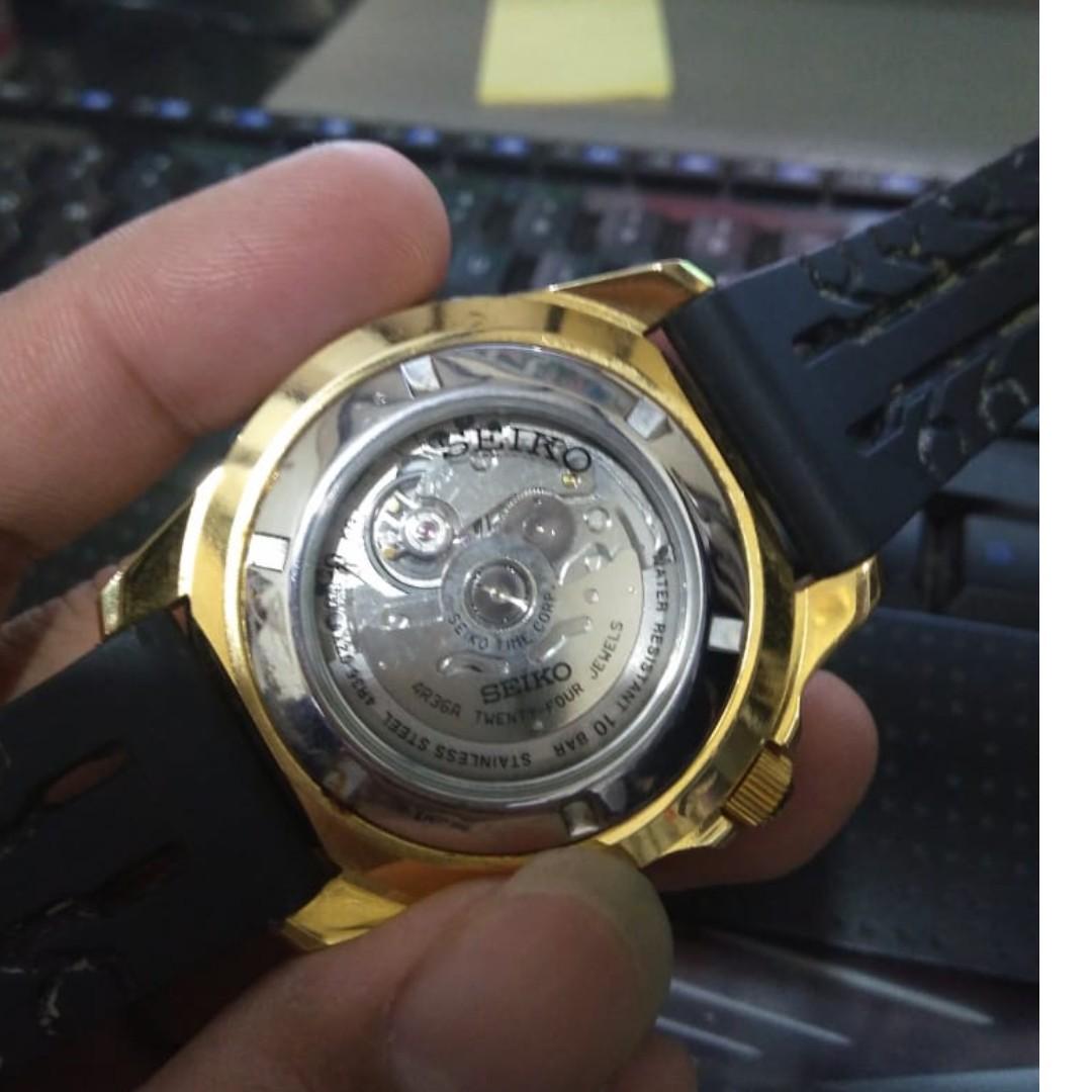 Seiko 5 Sports Jam Tangan Pria Srp478k1 Rubber Black Daftar Harga Mens Snke03k1 Snke03 Ip Stainless Automatic Dial Gold Steel Case Preloved Fesyen