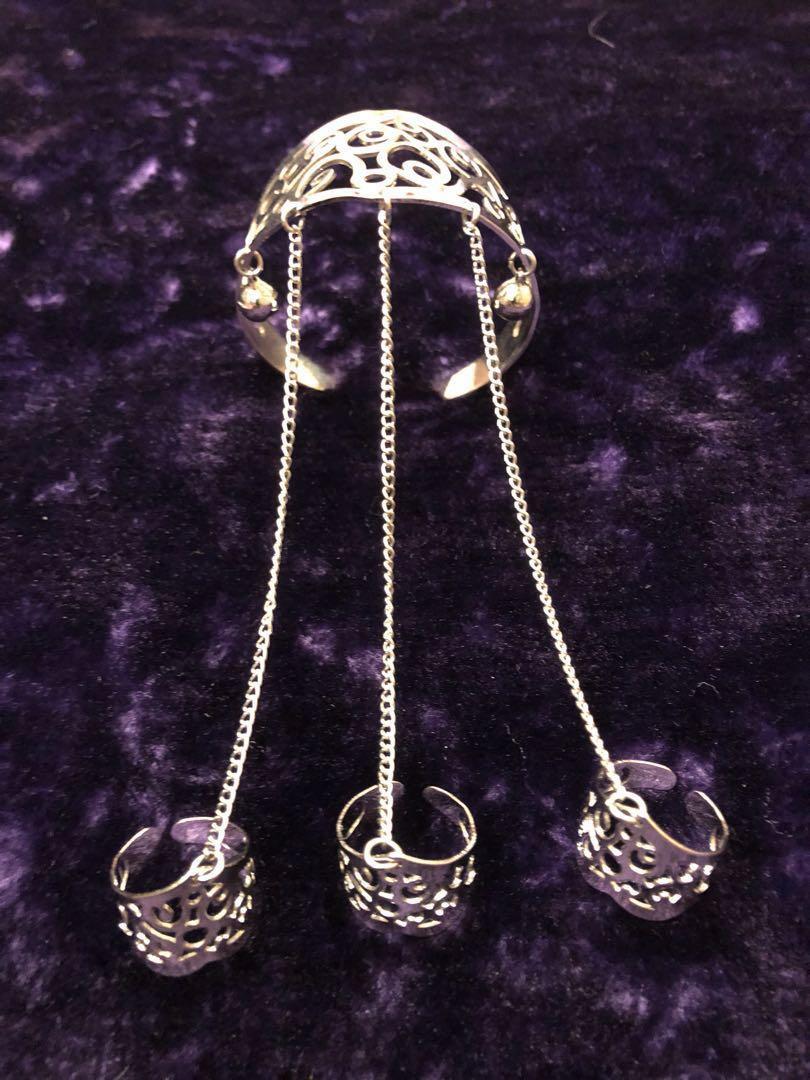 cfefd9f8c Silver Hand Bracelet, Women's Fashion, Jewellery, Bracelets on Carousell