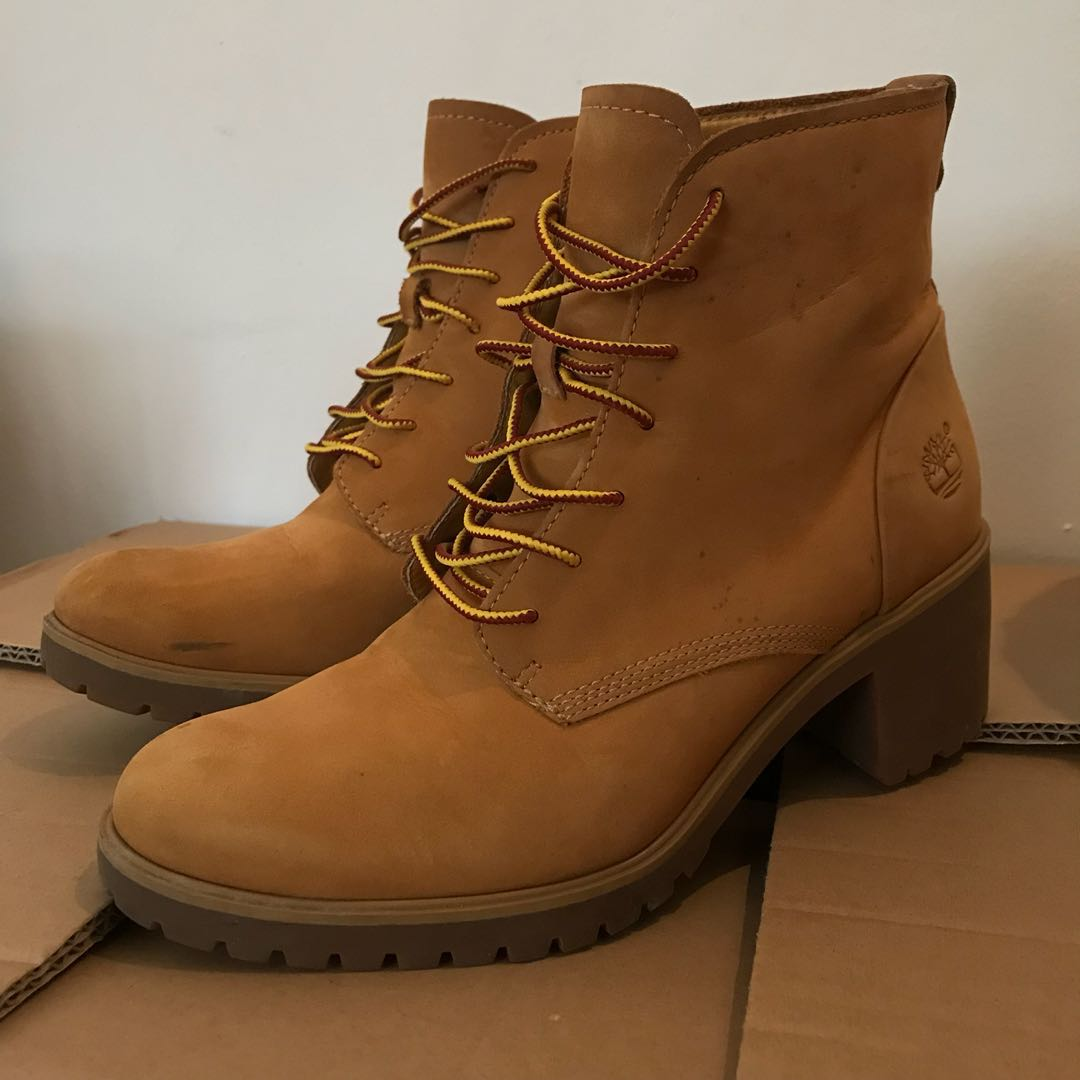 9b8fc2738659 Timberland High Heels Boots (Yellow)