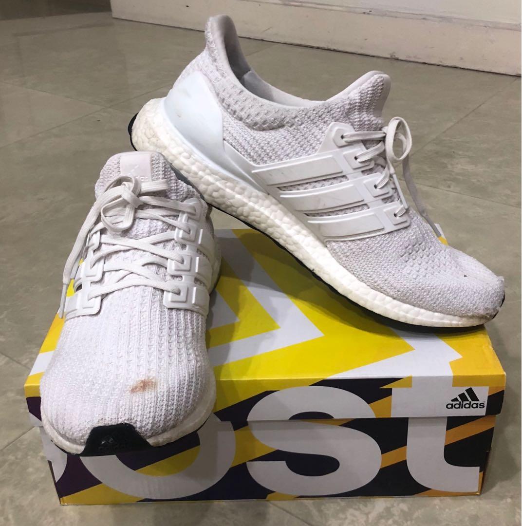 ed057de0 ultraboost 4.0 triple white, Men's Fashion, Footwear, Sneakers on ...