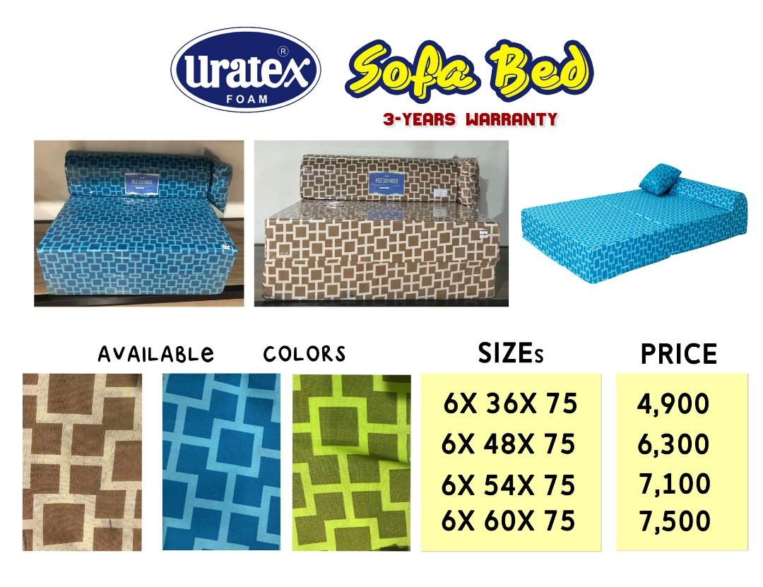 Uratex Sofa Bed And Durabox Home Furniture On Carousell