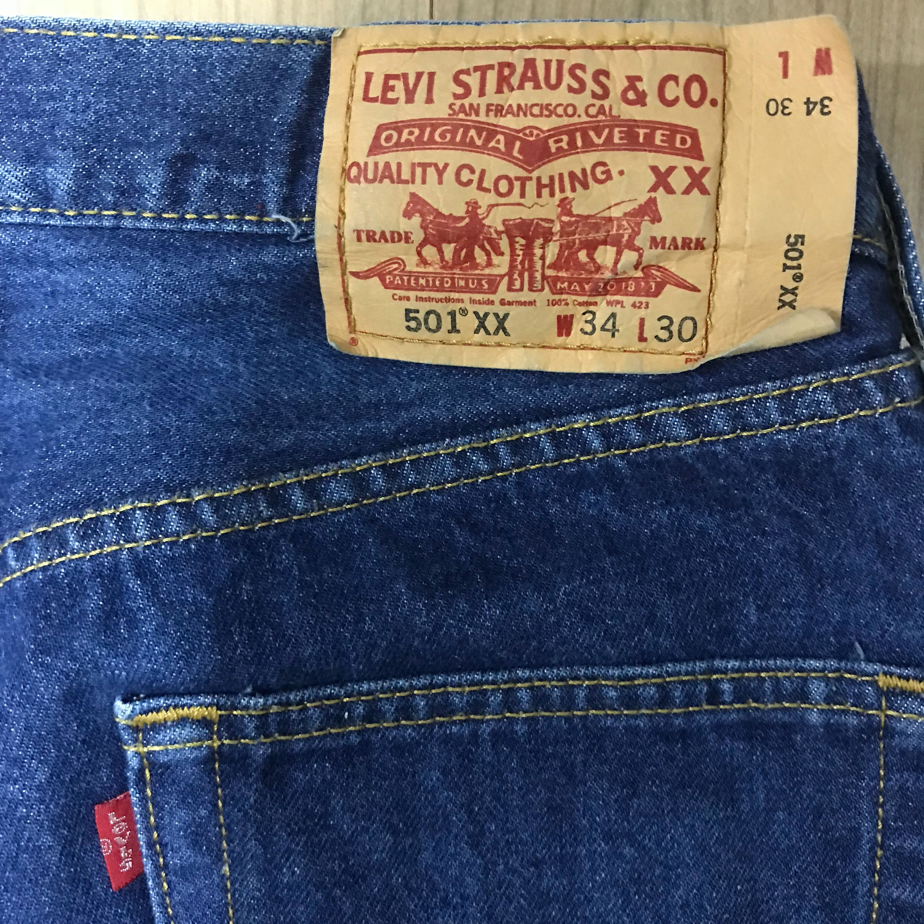417019799c9 Vintage Levi's 501 Button Fly Straight Cut, Women's Fashion, Clothes, Pants,  Jeans & Shorts on Carousell