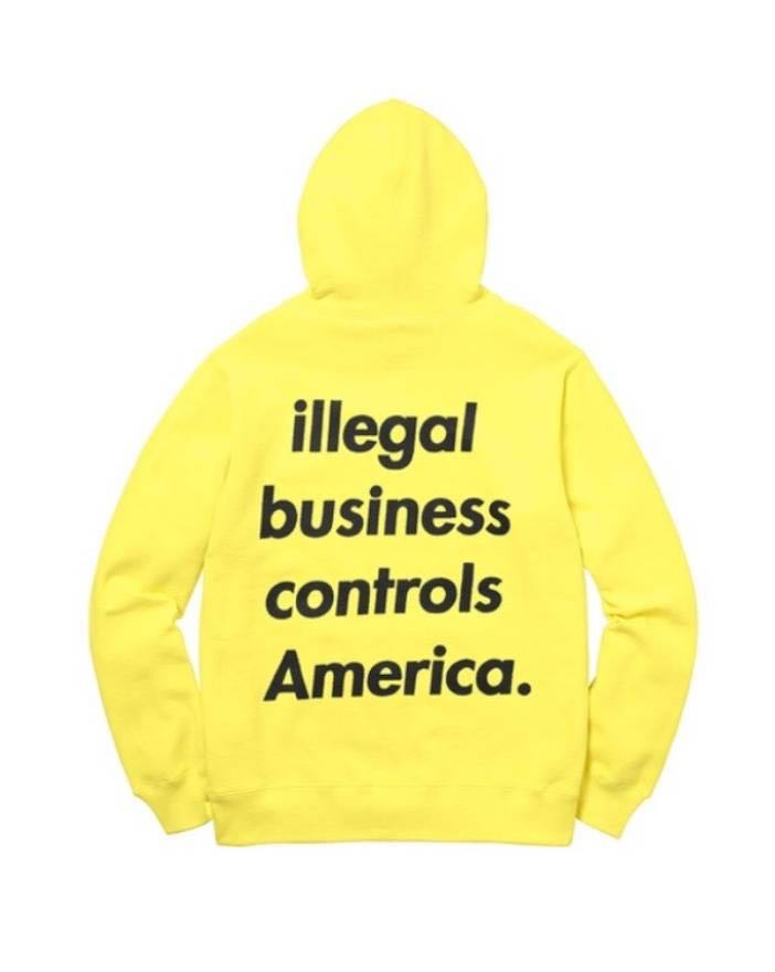 77a1f5a6cde4 WTT WTS Supreme Illegal Business Controls America Hoodie