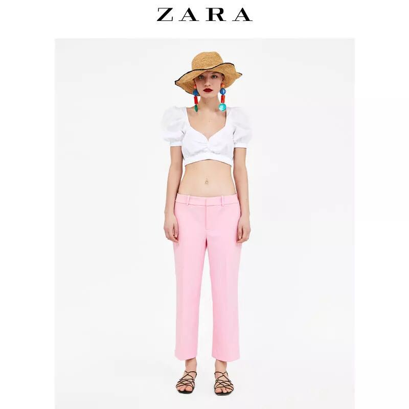 84412d58 Zara pink trousers pants, Women's Fashion, Clothes, Bottoms on Carousell
