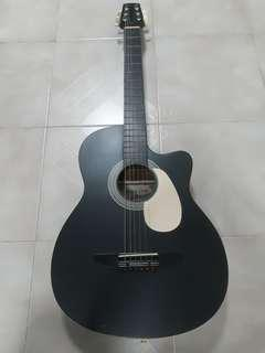 Santa Cruz Acoustic Guitar - Matt Black Finish