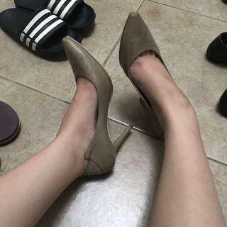 Heatwave Nude Heels sz 38
