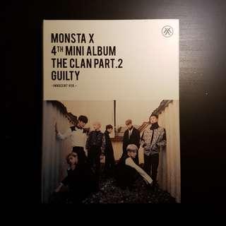 monsta x the clan part 2 guilty unsealed album ( innocent ver. )
