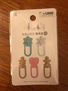 Korea 韓國 Snow Scene Series Book Mark Set
