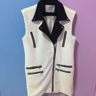 White Zipper Vest
