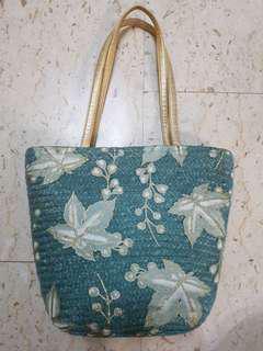 Teal Woven Bag