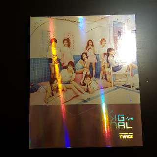 twice signal unsealed album ( pink ver. // tzuyu cd )