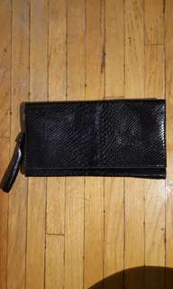Black clutch - with zip!