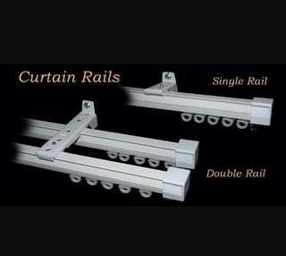 Aluminium Doso Curtain Rail Rod Langsir