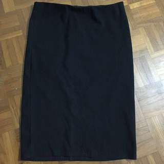 REDUCED!!! Cotton on black midi skirt for sale