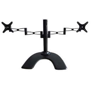 Dual Arm TV Monitor Stands for up to 27 Inches