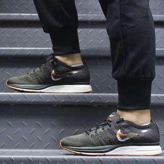 (PO) Nike Mens Flyknit Trainer Dark Green