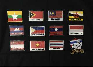 Flag Iron-On Patches
