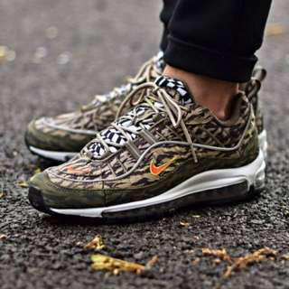 (PO) Nike Mens Air Max 98 AOP Camo