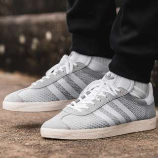(PO) Adidas Mens Gazelle Primeknit Wolf Grey