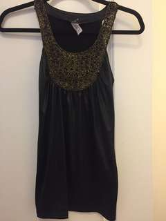 Black and gold tank top