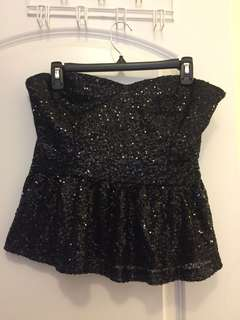 Forever 21 black sequin top