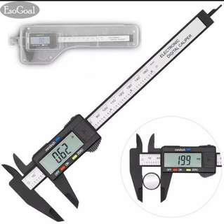 Digital Caliper Measuring Ruler Tool, LED Screen, Measuring Inside, Outside, Depth Accuracy