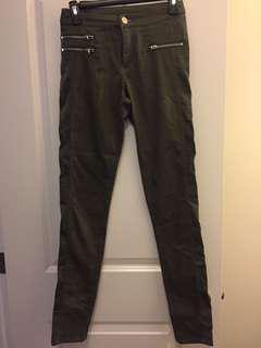 Cargo style skinny pants